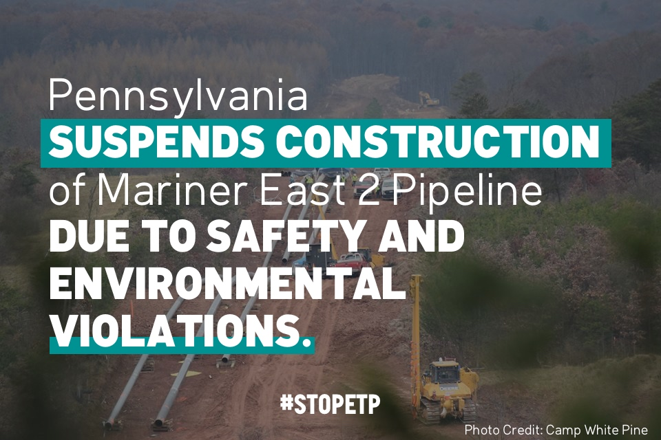 Press Release: Mariner East 2 violations latest in reckless practices by Energy Transfer Partners