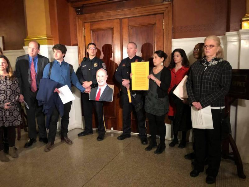 Pennsylvanians deliver 'Notice of Violation' to Governor Tom Wolf