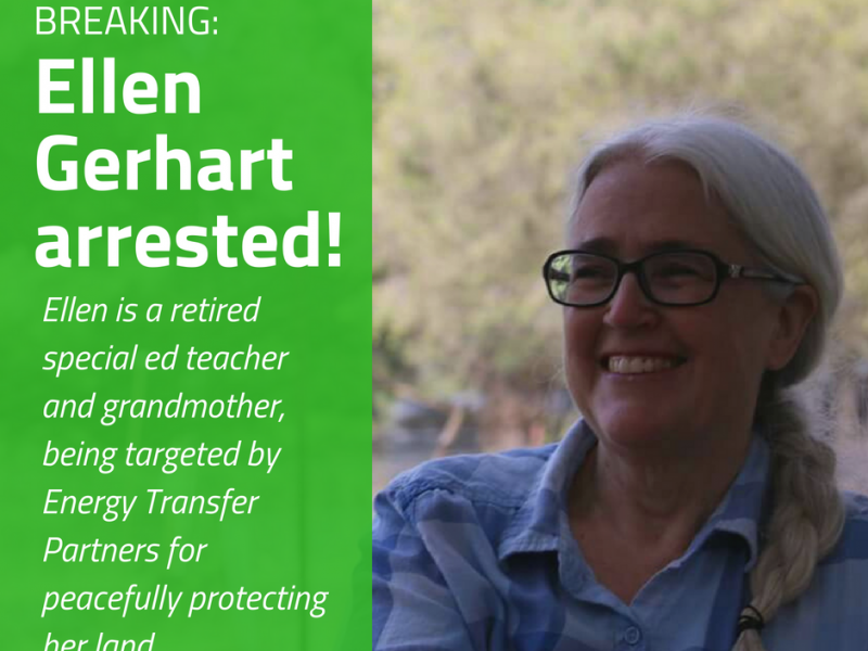Pennsylvania Grandmother, Landowner, & Environmental Advocate Arrested